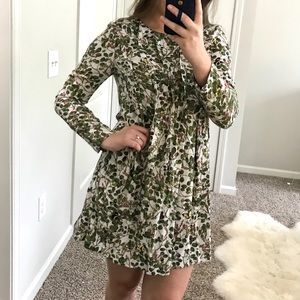 HM floral mini dress